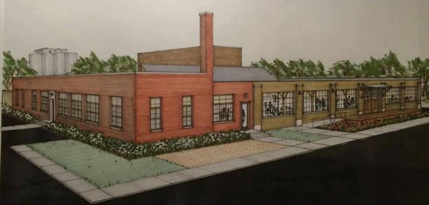 Artist's rendering of a restored 1701 Gent Avenue  (courtesy of Boyle Headquarters Foundation LLC)