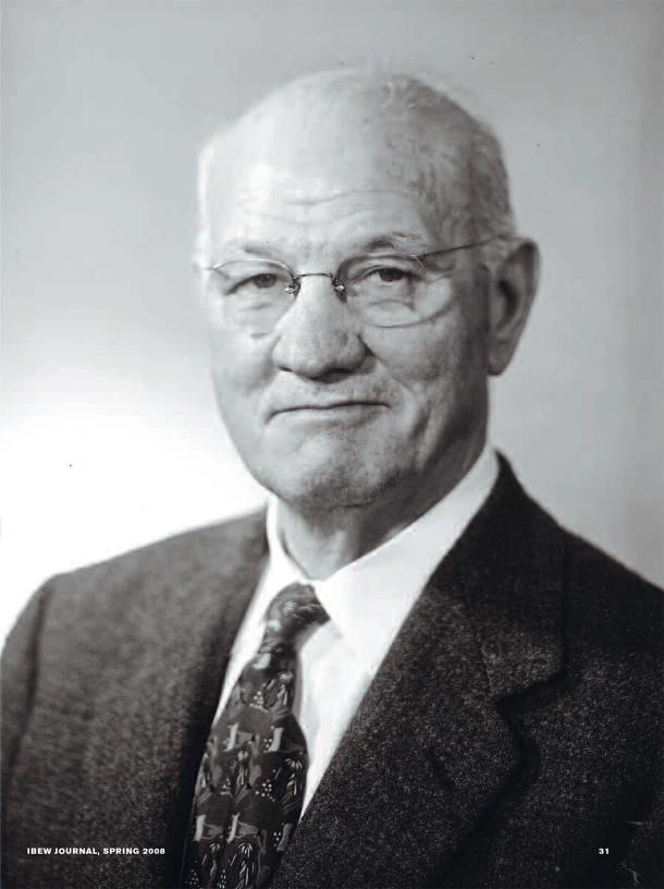 Photo of Michael Joseph Boyle in his later years courtesy of IBEW