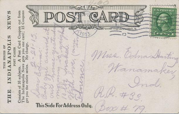 Postmark: February 22, 1913
