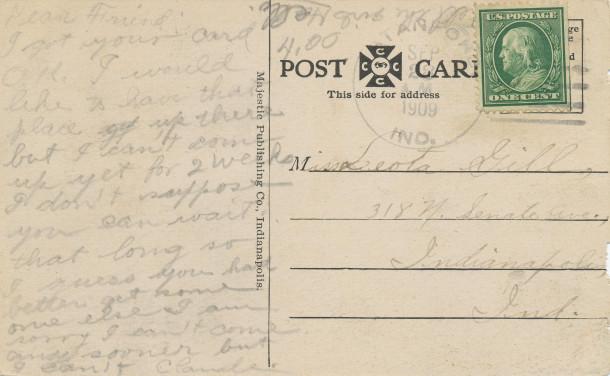 Postmark September 28th, 1909