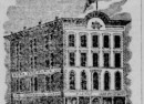 This Advert dates all of the way back to 1862 showing the recently constructed Aetnal Insurance Building (Courtesy Indiana State Library)
