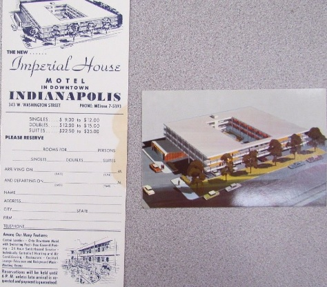 Momentos from the Imperial House Motel which stood on the upper 300 block of West Washington Street in the 1960's and 1970's. (Courtesy eBay)