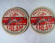 Forget the powder! These are from bottles of real coffee creamer which were part of Robert's home milk delivery service. (Courtesy eBay)