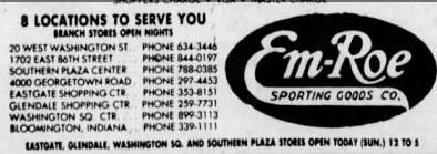 By the 1970's Em-Roe had locations at all of the major shopping centers. They ended their retail operations in 1995. (Courtesy Indiana State Library)