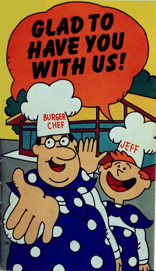Burger Chef and his sidekick Jeff were the animated spokesmen of Burger Chef throughout the late 60's and 70's. (Courtesy eBay)