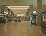 The inside of Glendale in the 1970's. In 1969 Glendale enclosed its courtyard to remain competitive with the Lafayette Square Mall which had recently opened on the northwest side. (Courtesy of Evan Finch)