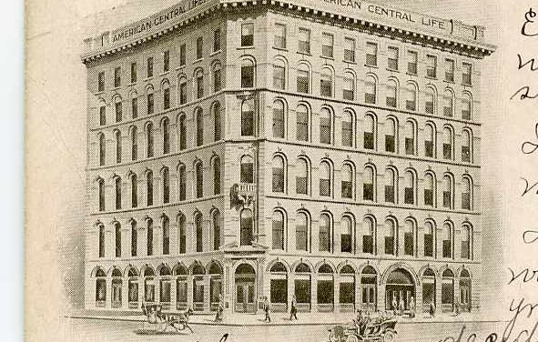 Formerly on the Circle: American Central Life Building