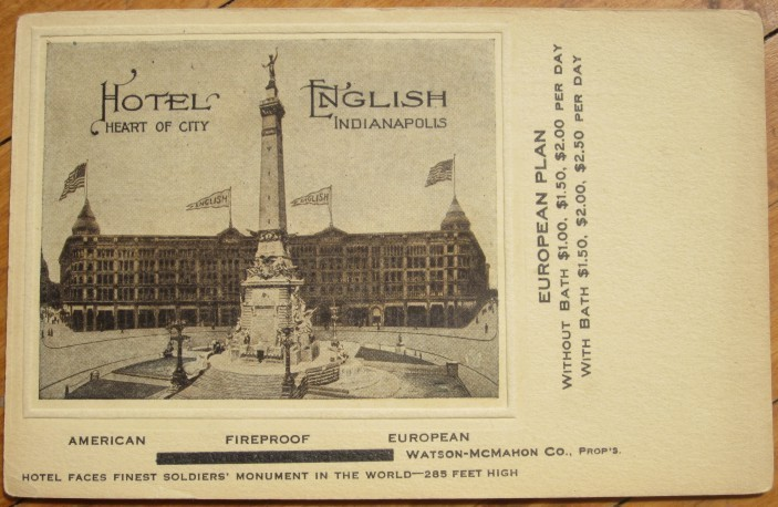 Hotel English postcard