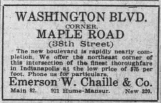 38th is Maple Road
