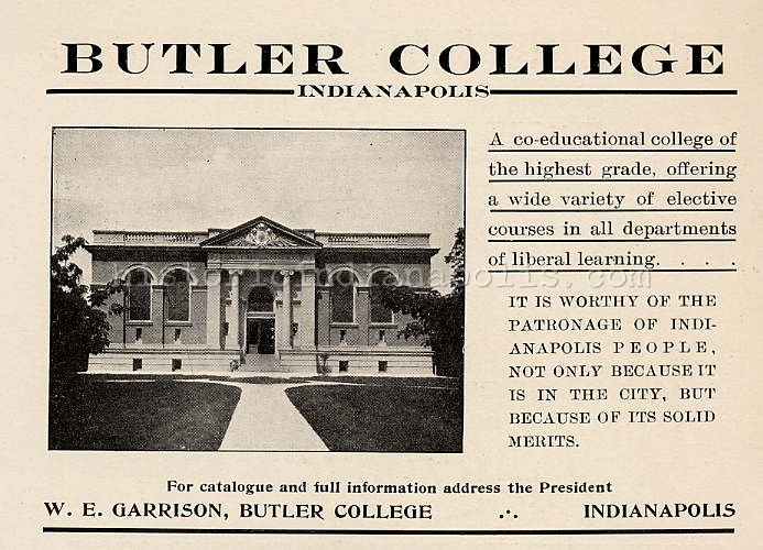 Sunday Ads: Butler University – Irvington Years