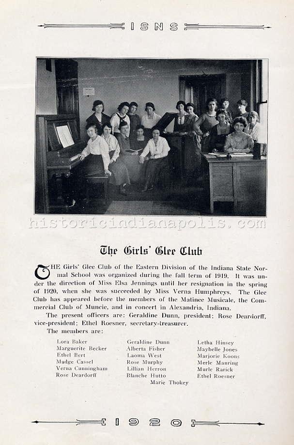Ladies of the Class of 1920- Glee Club & All