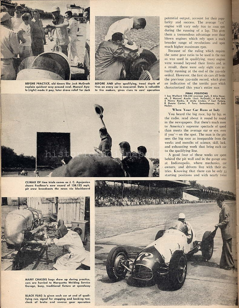 Indianapolis 500 Seen From the Pits in 1951- Part II