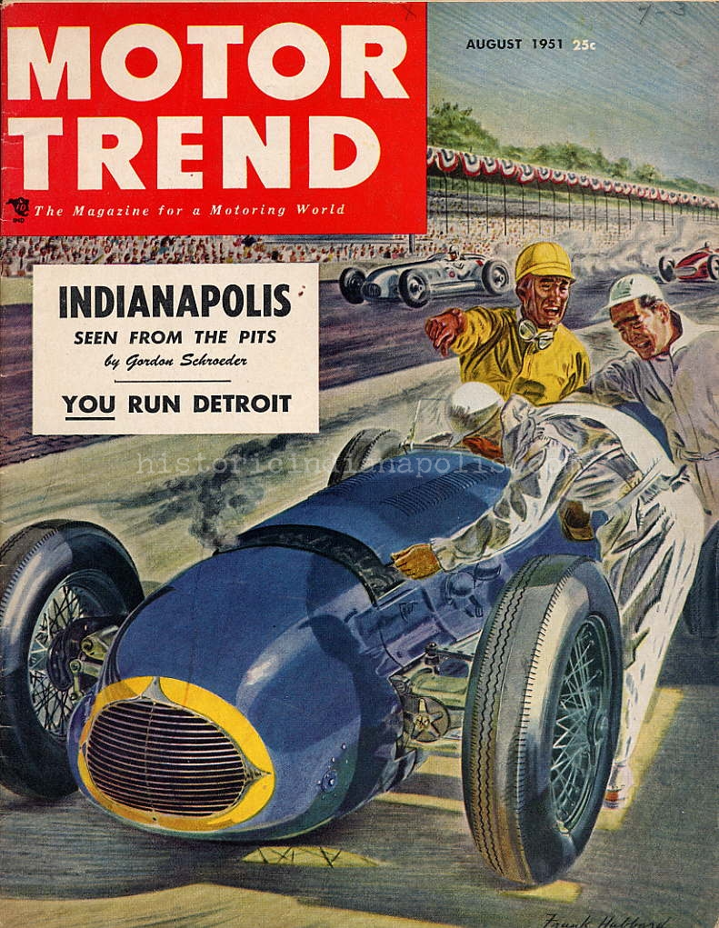 Indianapolis 500 Seen From the Pits in 1951- Part I