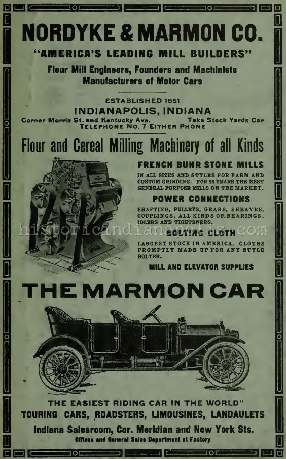 Sunday Advert: Nordyke & Marmon