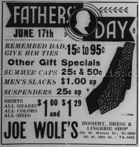 Sunday Ad: Father's Day in the 30s and 40s