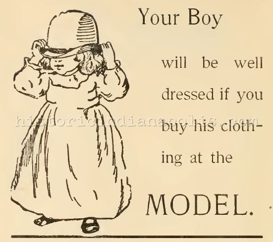 Sunday Ad: the Model Clothing Store, 1895