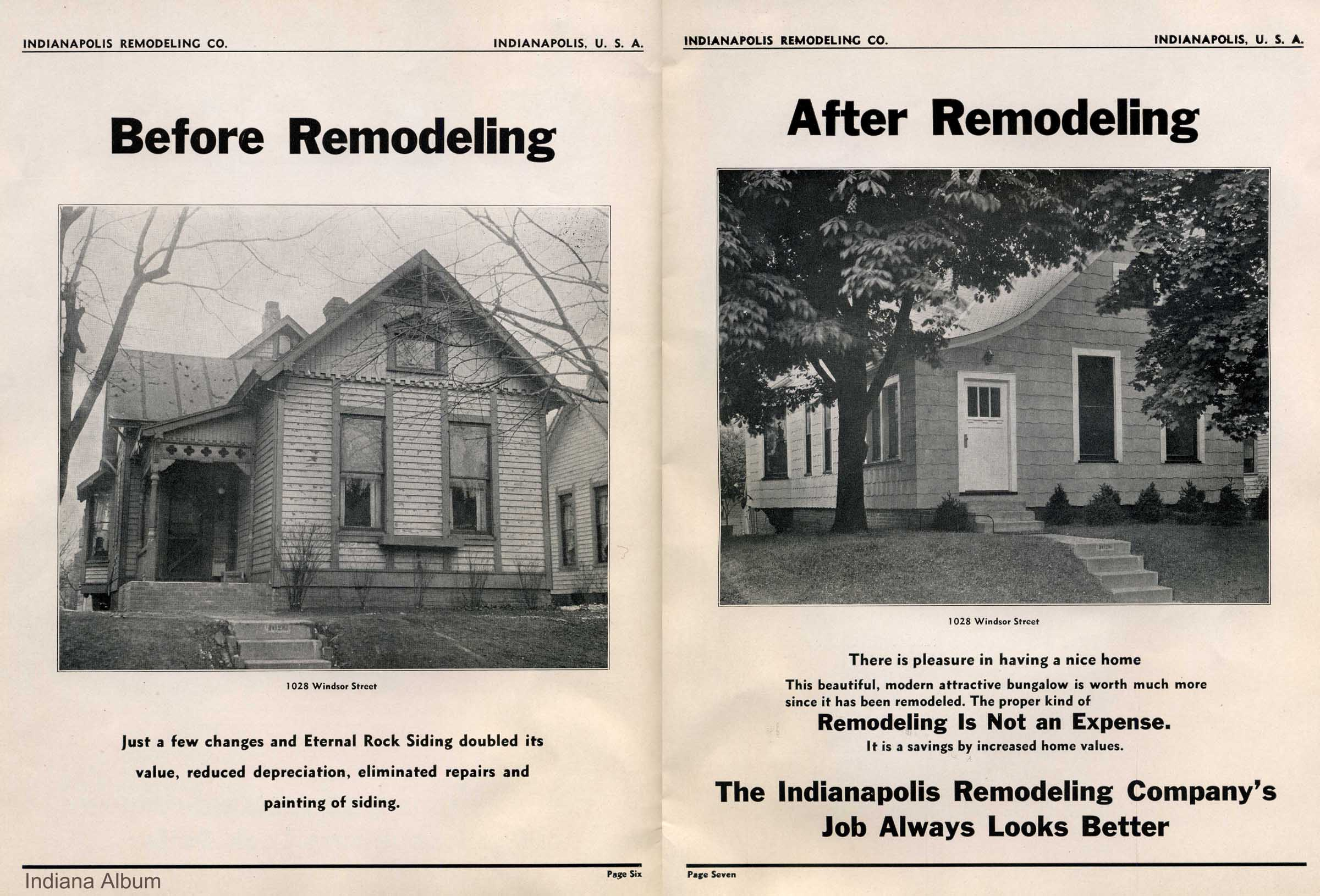 Then and Now: Indianapolis Remodeling Company, 1422 N. Kealing Avenue and 1028 Windsor Street