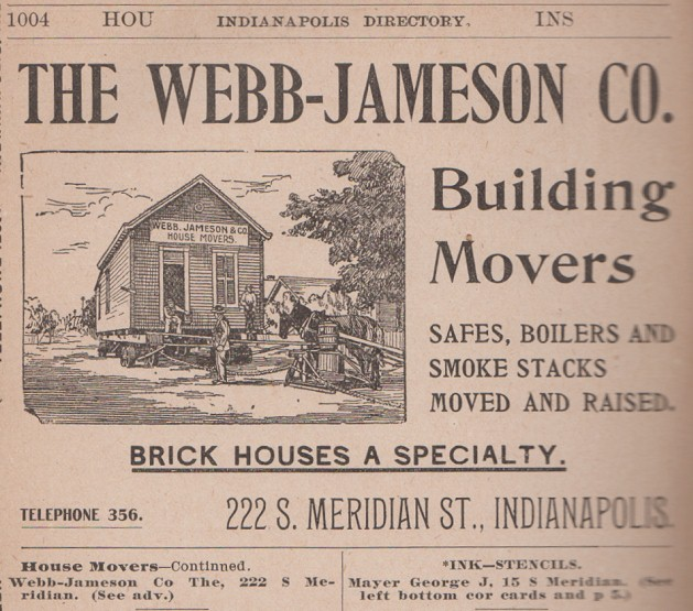Sunday Adverts: House Movers, 1897