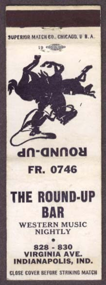 Sunday Adverts: Round-Up Bar, Virginia Avenue