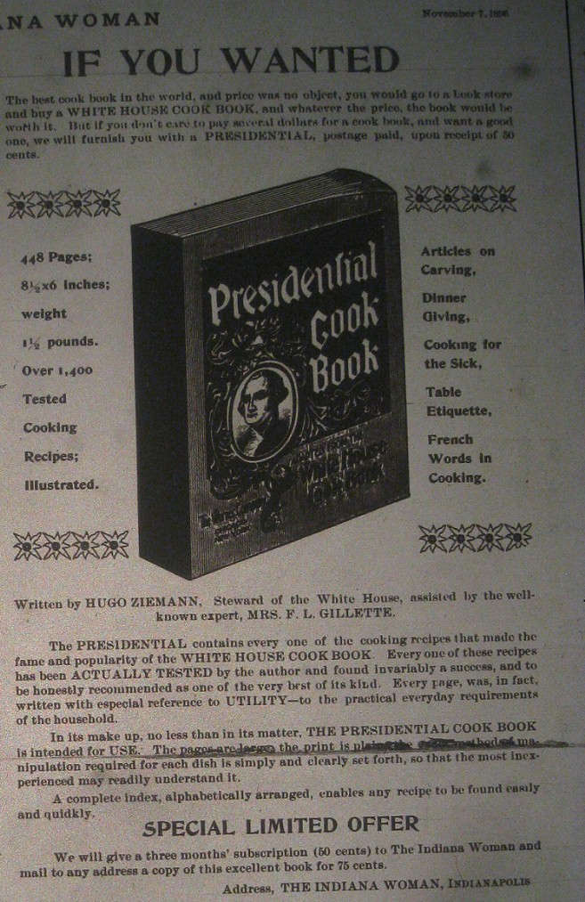Sunday Adverts: Presidential Cookbook