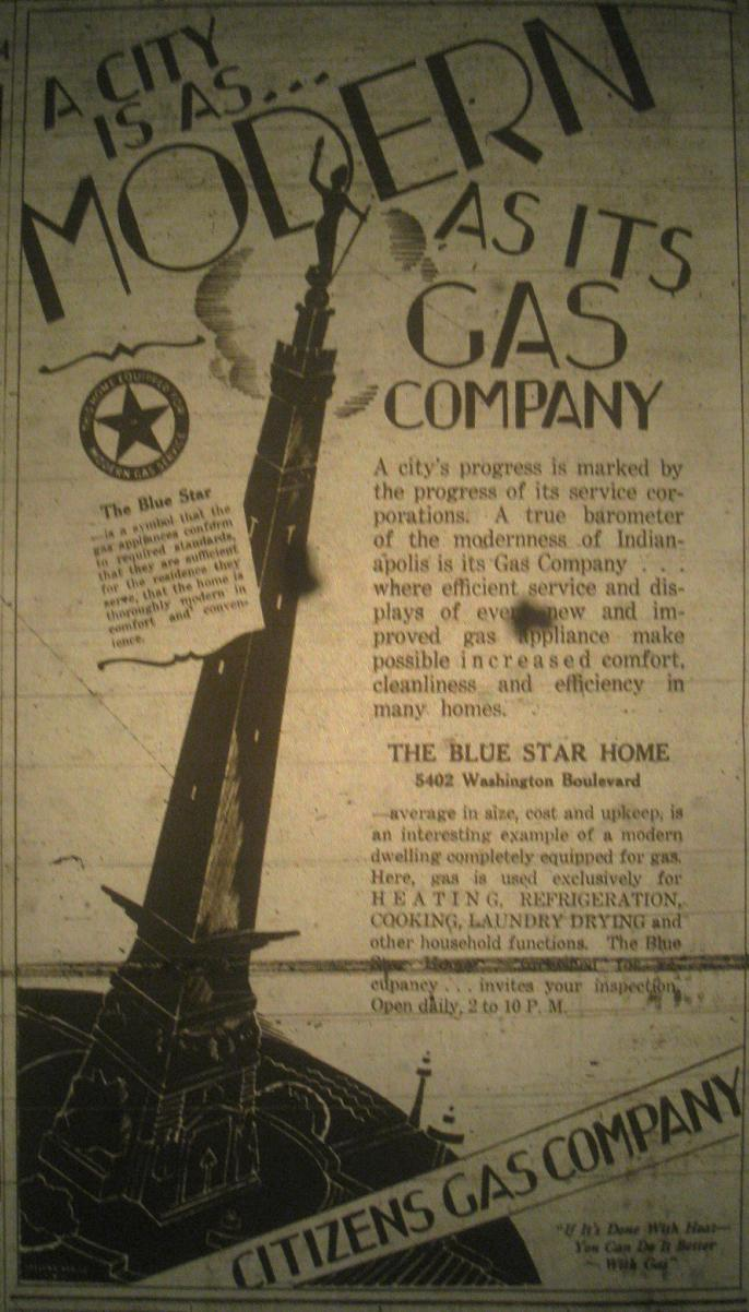 Sunday Adverts: Citizen's Gas 1928