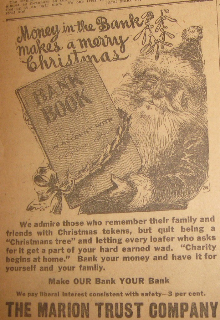 Sunday Adverts: That Santa Should be Scrooge…