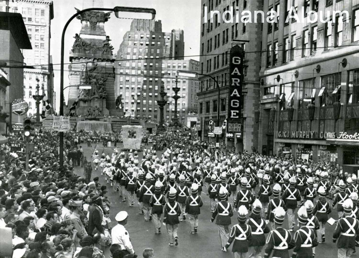 Indianapolis Then and Now:  West Market Street and the 500 Festival Parade