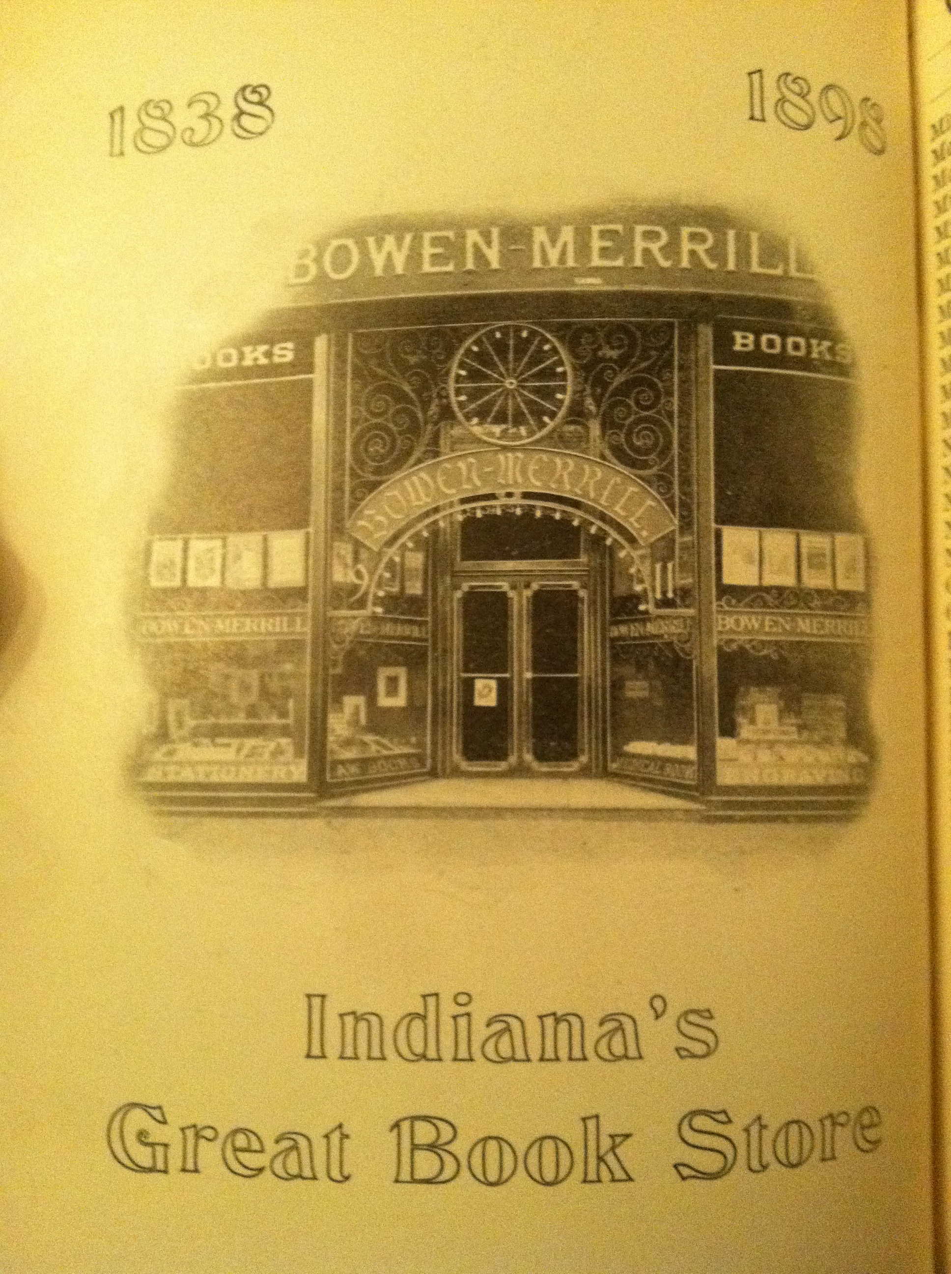 Sunday Adverts: Merrill & Co. The Cornerstone of Indy's Once Booming Book Industry