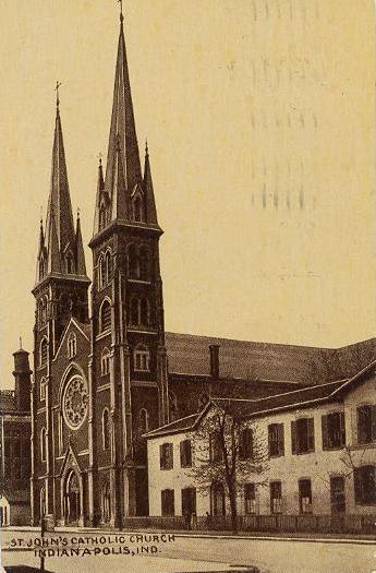 Indianapolis Then and Now: Saint John the Evangelist Catholic Church, 126 W. Georgia Street