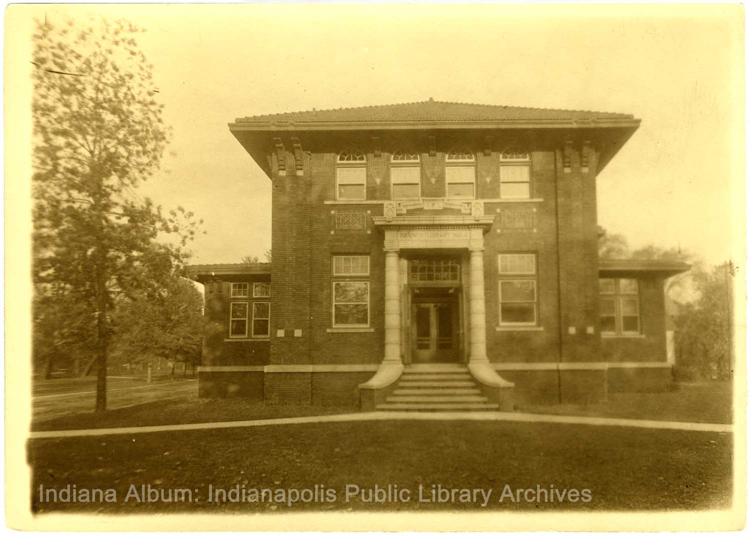 Indianapolis Then and Now:  Spades Park Library 1801 Nowland Avenue