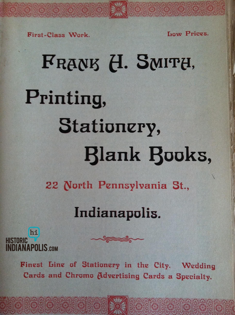 Sunday Adverts: Frank H. Smith Printing