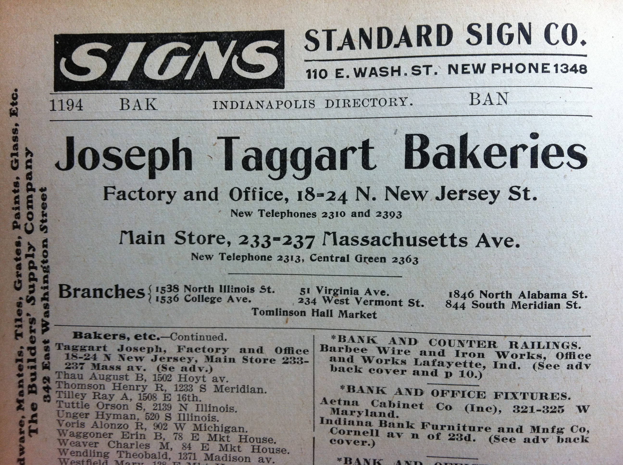 Sunday Adverts: Taggart Bread