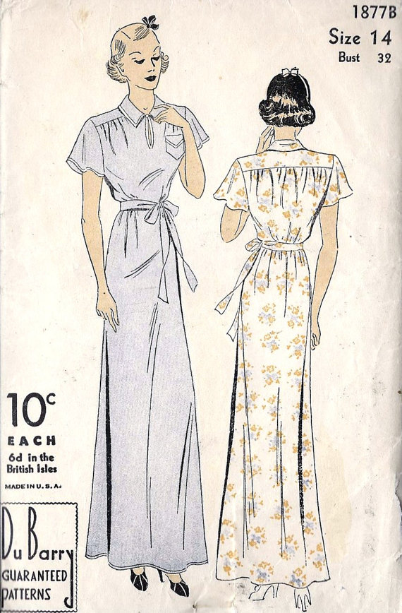 The following 1940s gowns are specifically noted as hospital–and are not so  traditional 6646521bf