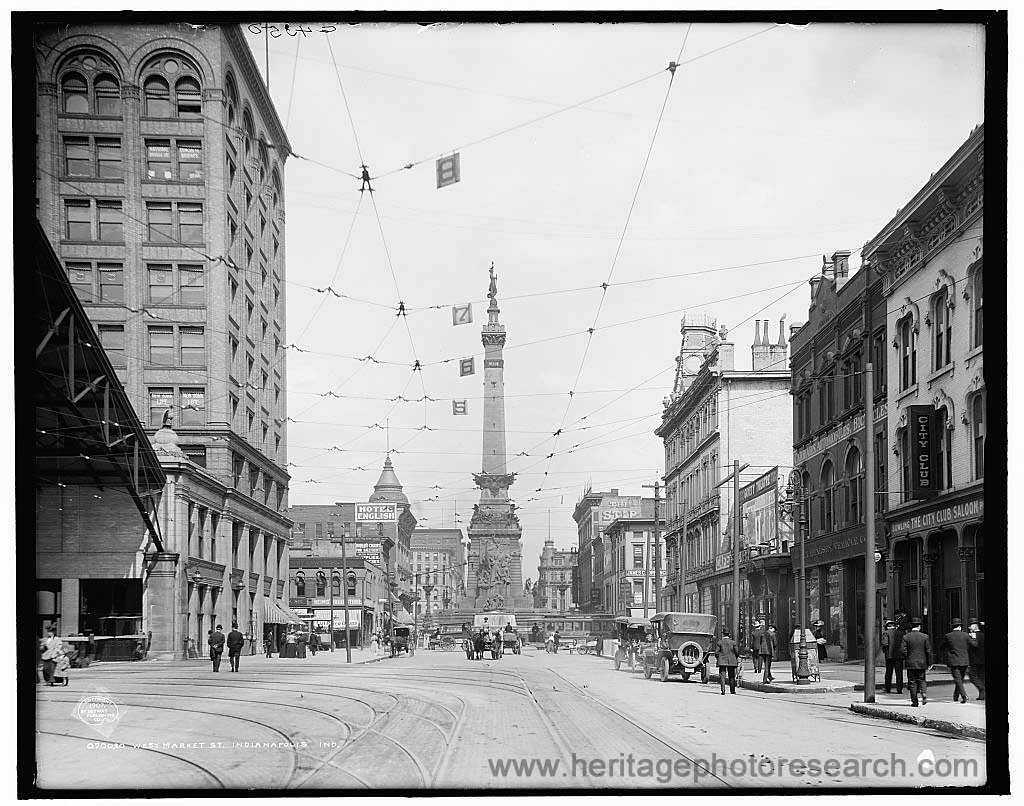Indianapolis Then and Now: West Market Street