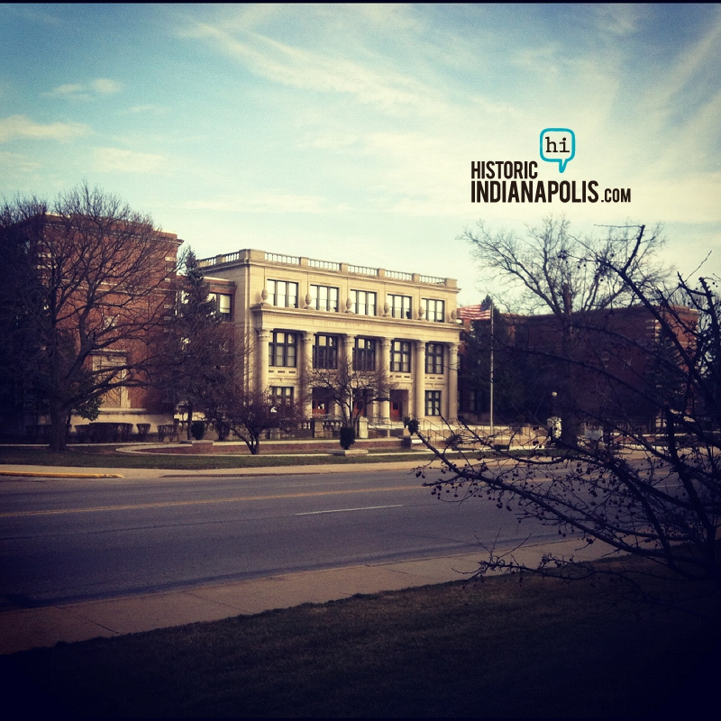Room With a View: Shortridge High School from Indiana Blood Center