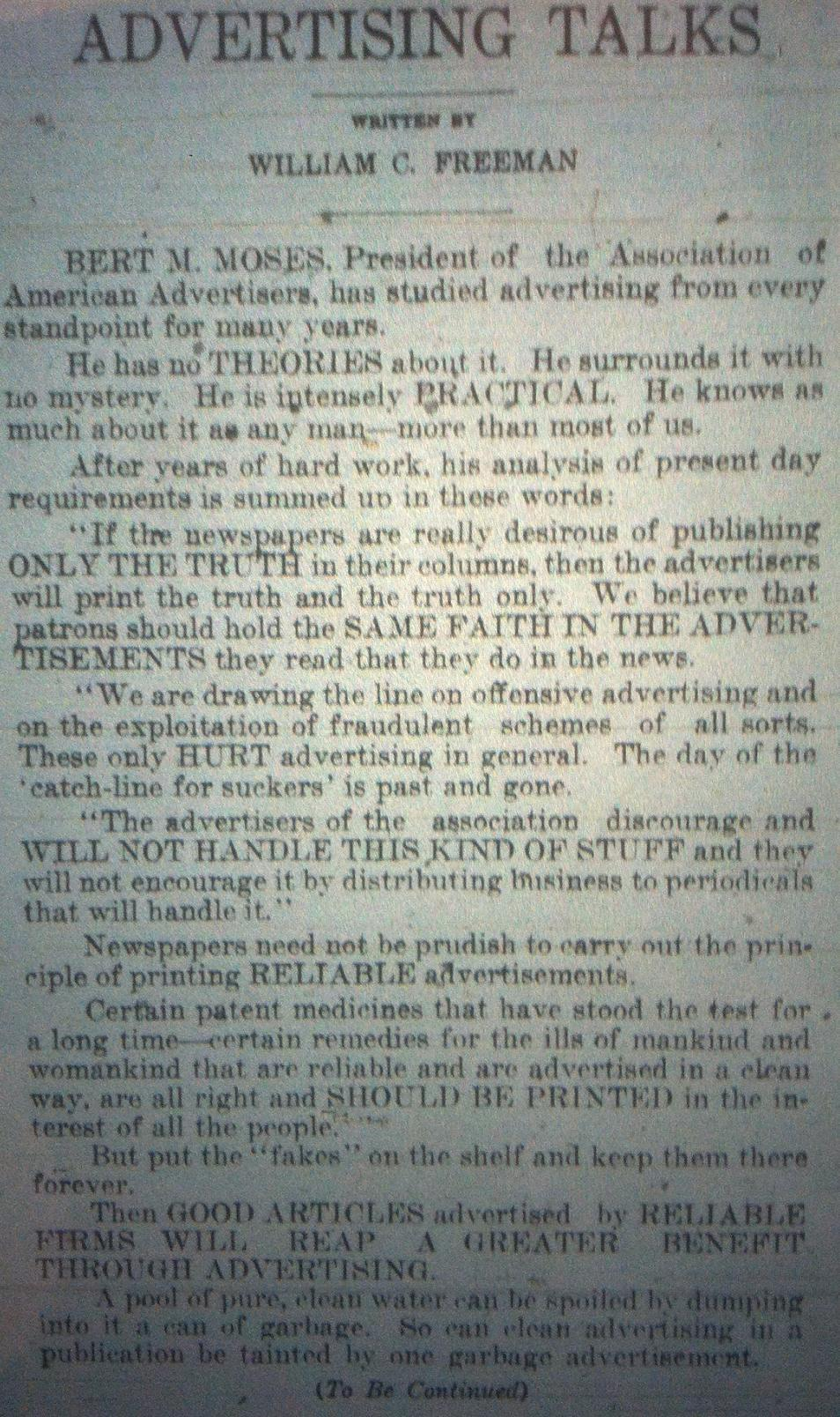 Sunday Adverts: Advertising, 1911 Mad Men