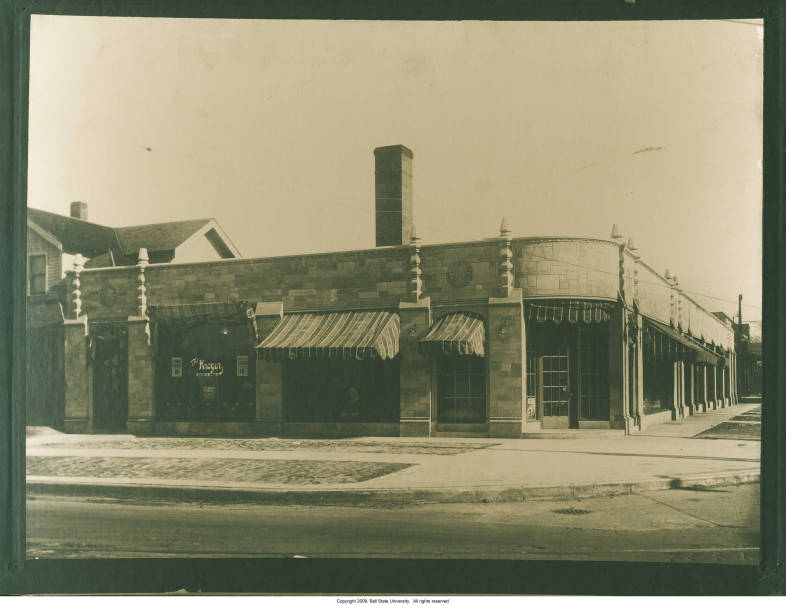 Indianapolis Then and Now: Kroger Grocery and Big Al's Superstore, 4601 N. College Avenue