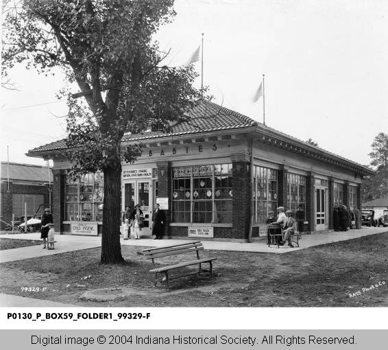 Then & Now: Better Babies Building and Hook's Drug Store Museum, Indiana State Fairgrounds