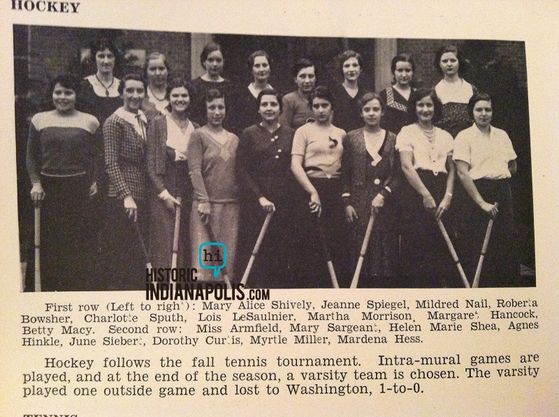 Ladies Lounge: Girls played hockey in 1932 Indianapolis?