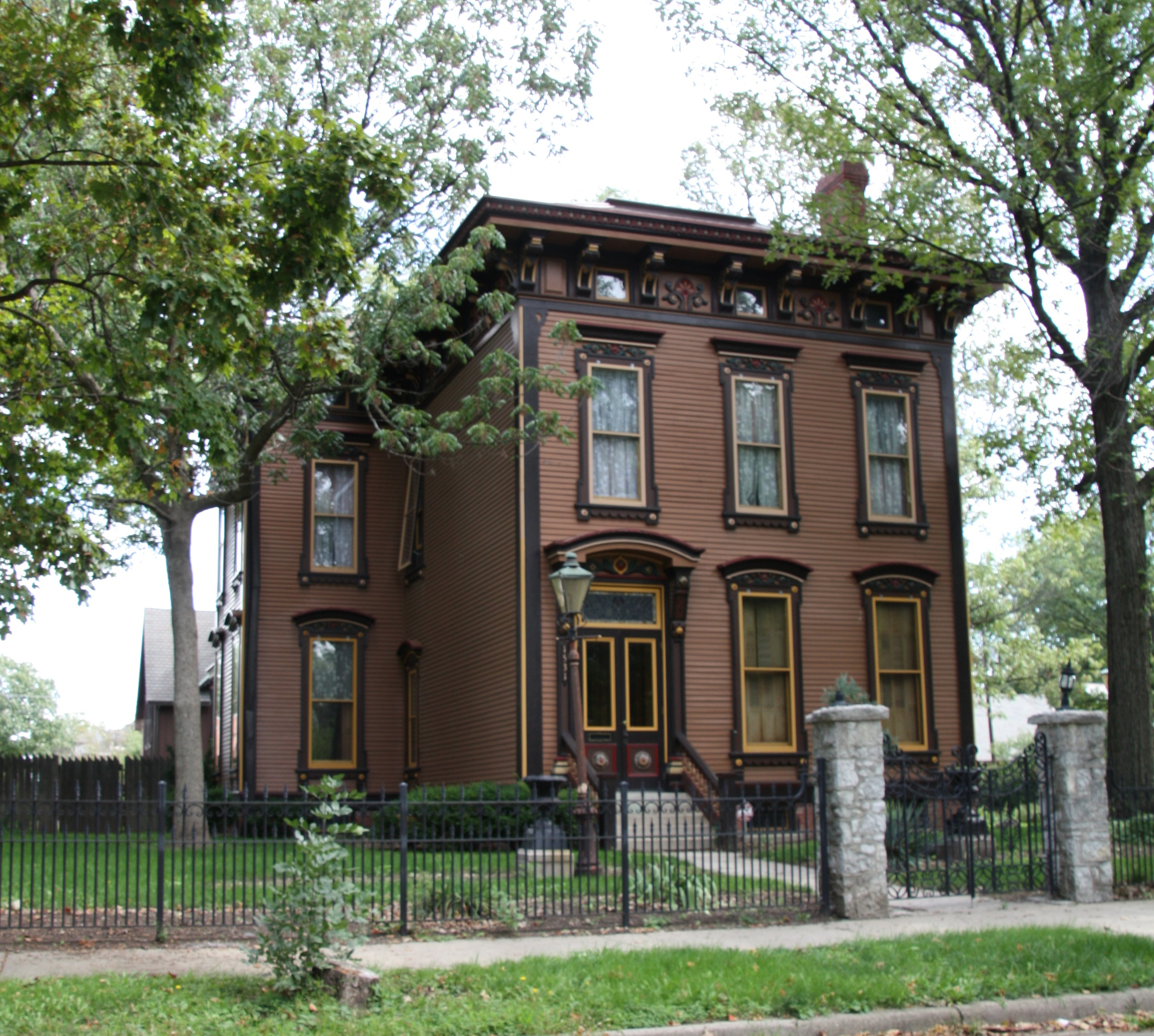 Building Language Italianate Historic Indianapolis