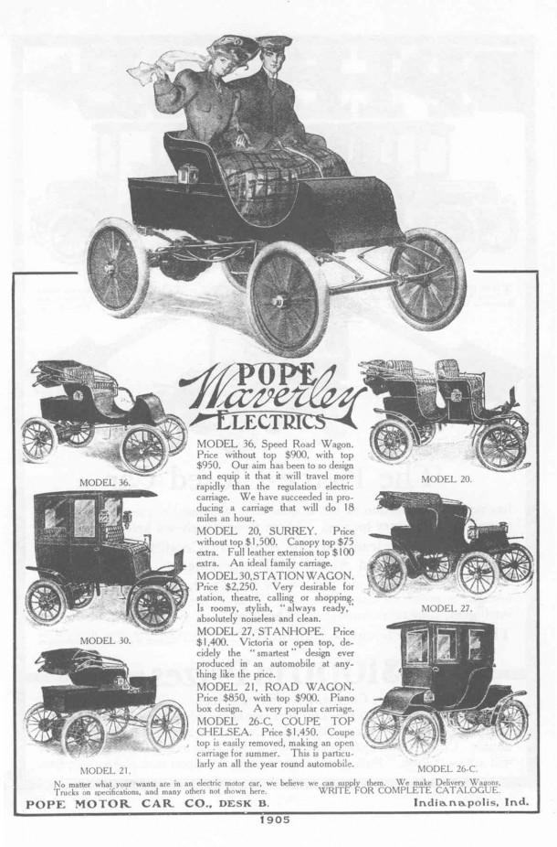1905 Pope-Waverley ad