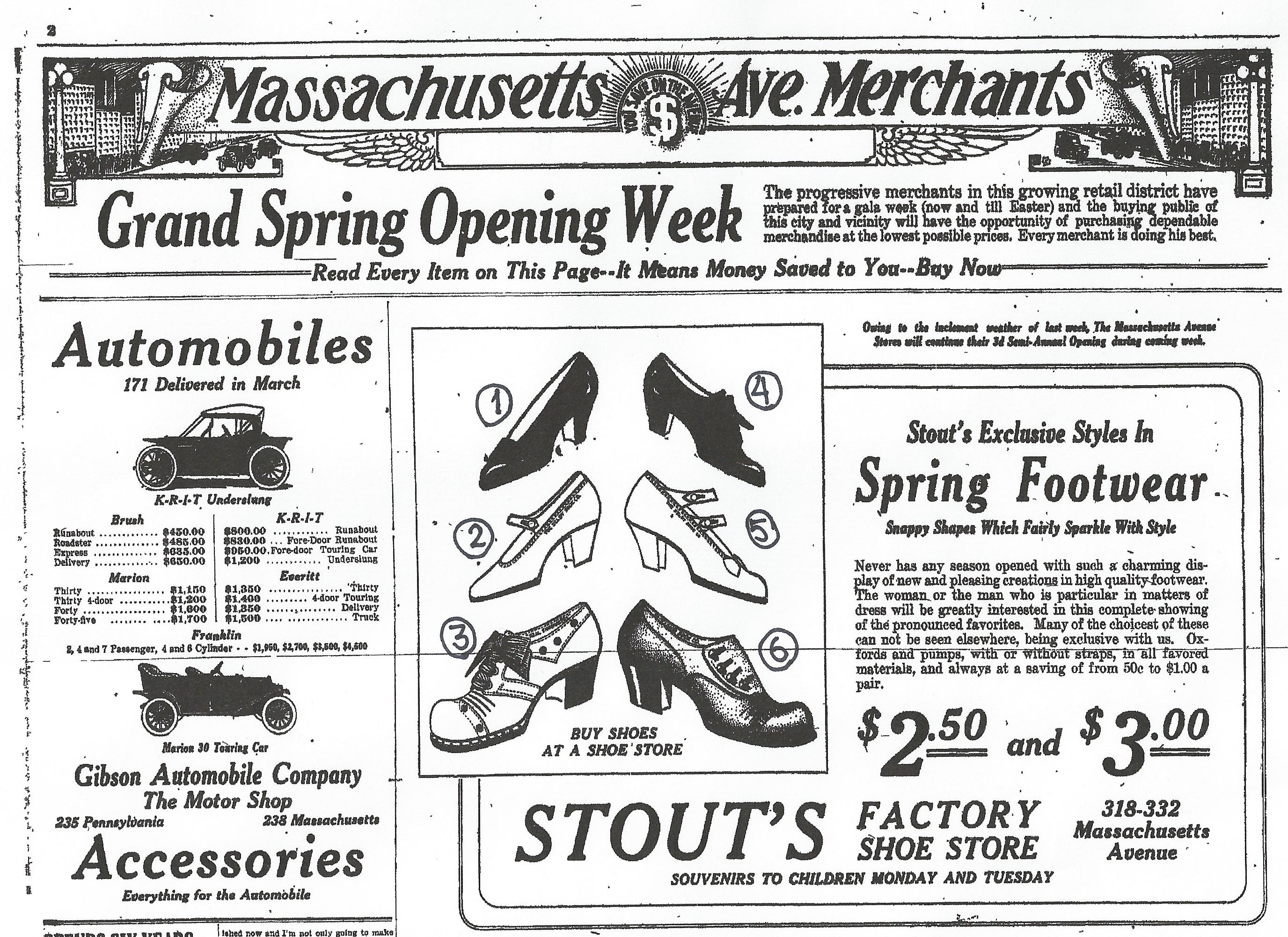 Sunday Adverts: Stout's Shoes & the Circular Nature of Styles