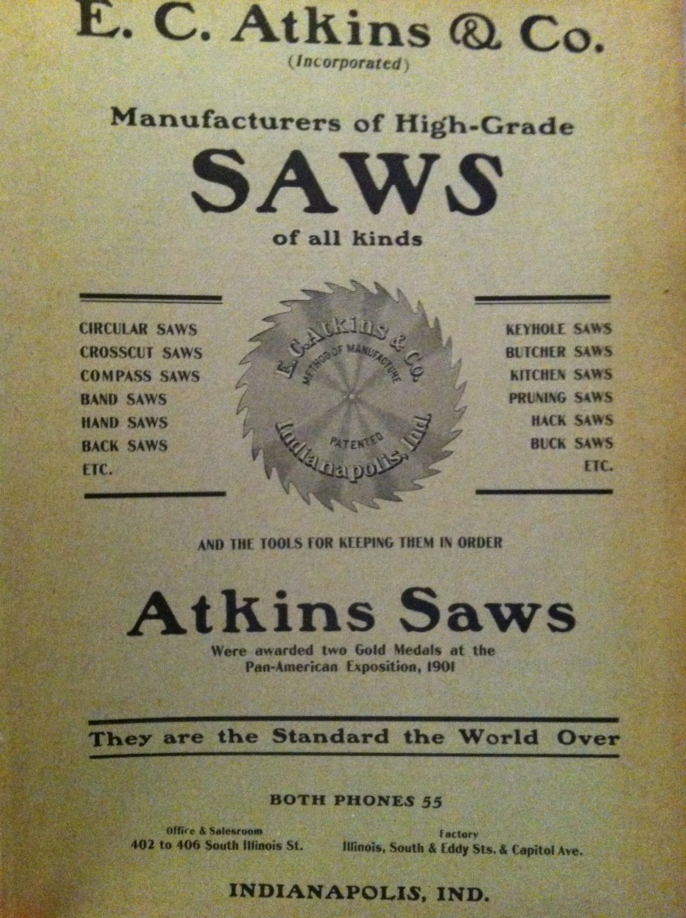 Sunday Adverts: Atkins Saw