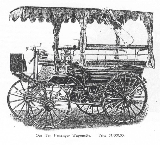 Black 10-passenger Wagonette