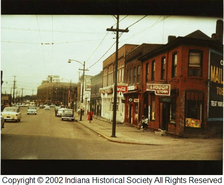 Indianapolis Then & Now: 500 Block of Indiana Avenue