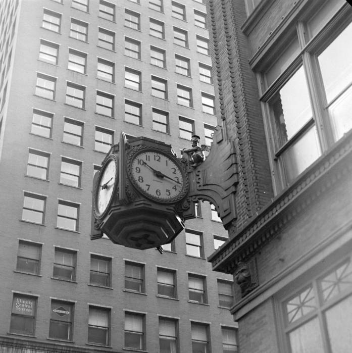 Indianapolis Then and Now: The Ayres Clock Cherub