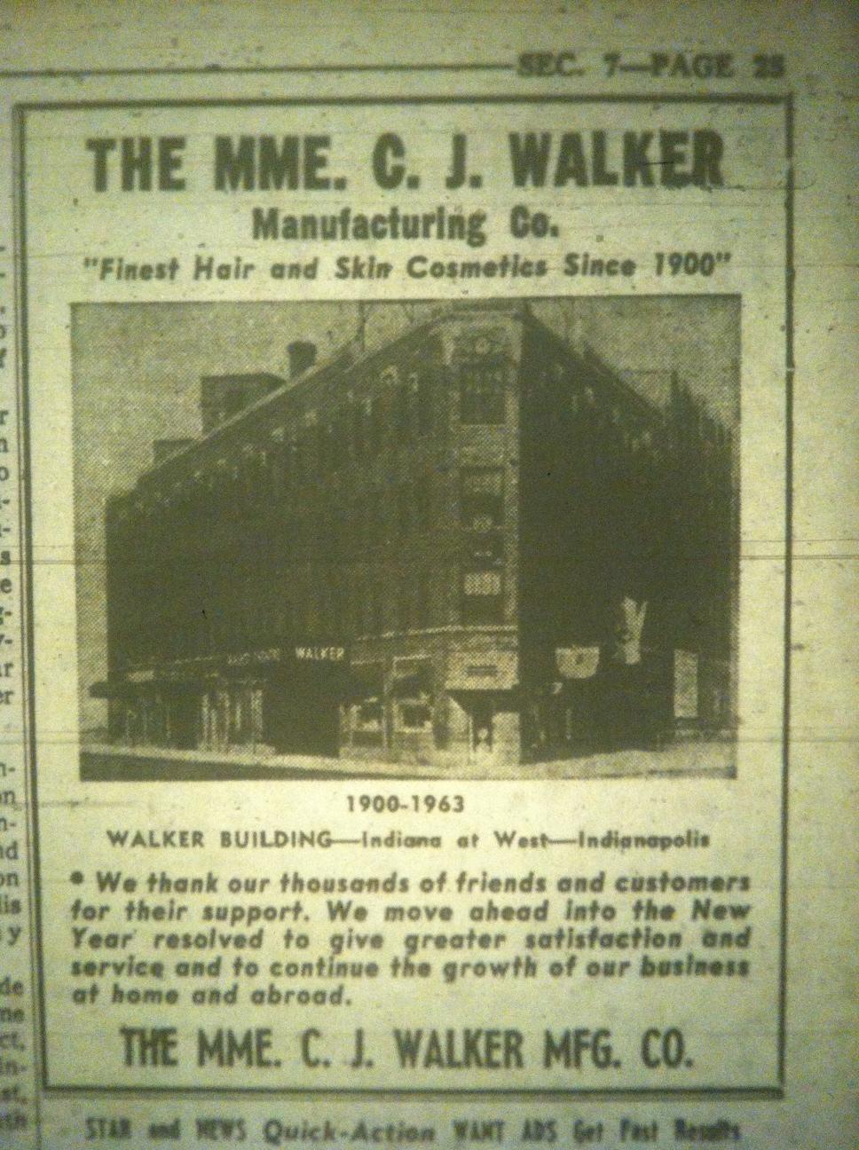 Sunday Adverts: Madame Walker Manufacturing, 1963