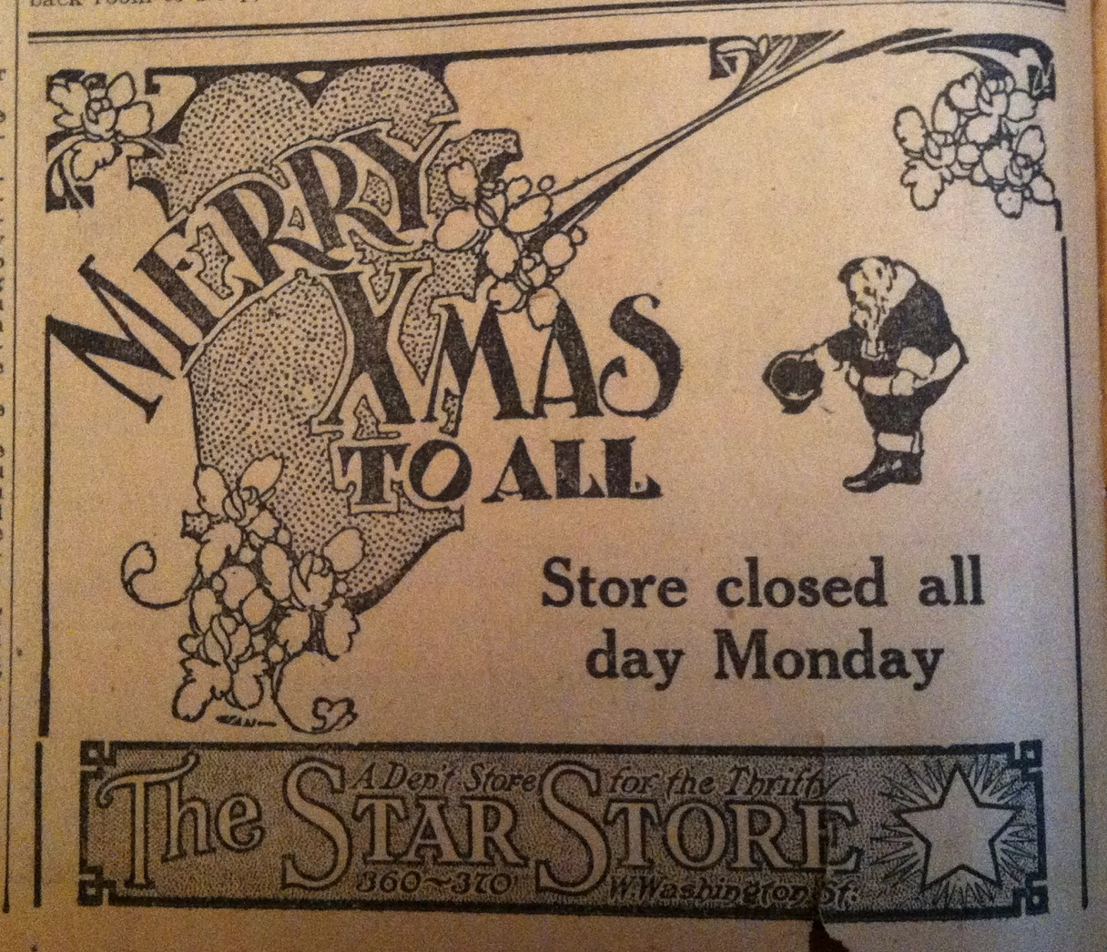 Sunday Ads: 1910 Indy Christmas