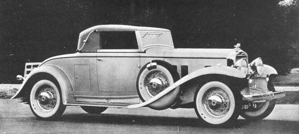 The 1933 DV-32 Cabriolet Coupe was one of the last cars made by Stutz