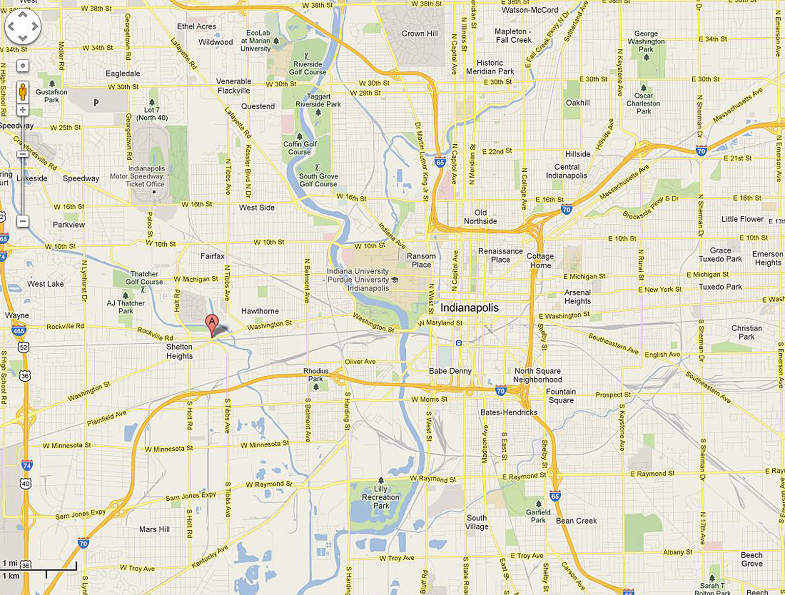 Map 3508 Rockville Rd - Historic Indianapolis   All Things ...